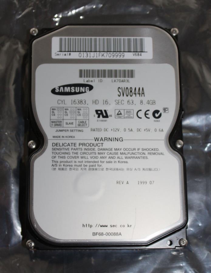 Samsung Spinpoint SV0844A Internal 8.4 GB, 5400 RPM, IDE Hard Drive