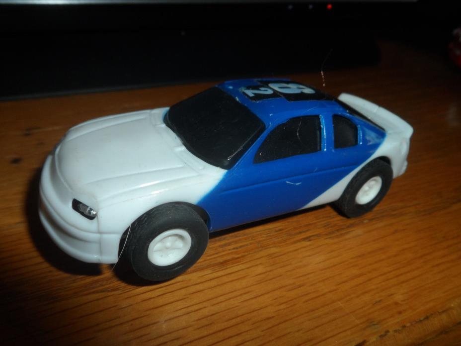 Slot Car Mustang?  Blue white