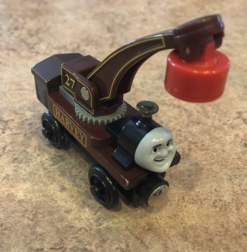 Authentic Learning Curve Wooden Thomas the Train Harvey the Crane!