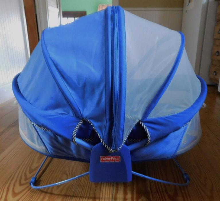 FISHER PRICE BOUNCE N PLAY ACTIVITY DOME BASSINET PORTABLE FOLD UP
