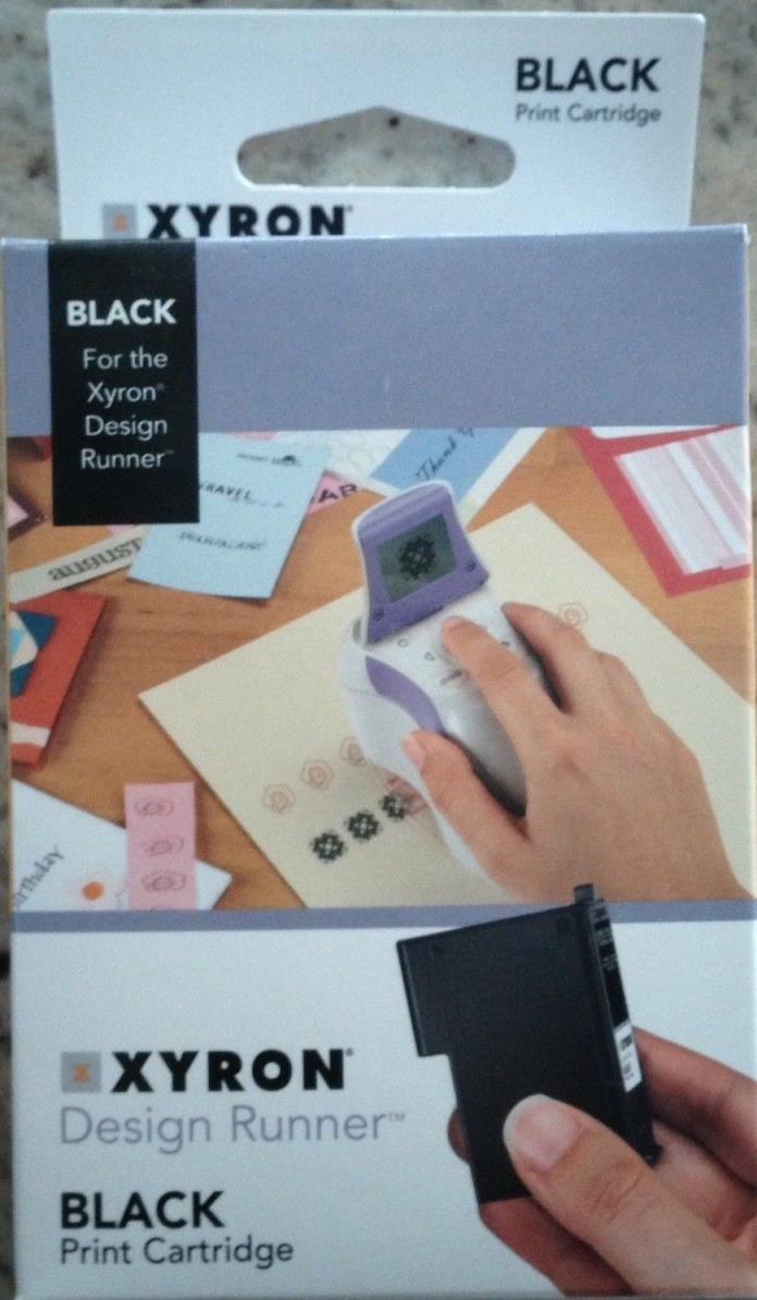 NEW Xyron Print Cartridge for Xyron Design Runner Black Ink