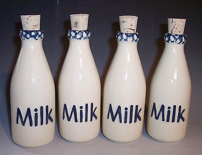 Mini Milk Bottles USA Made Set/4!