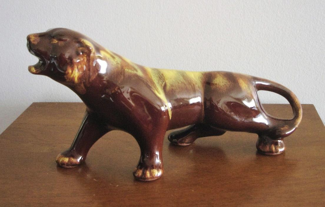 Harvest Gold Blue Mountain Pottery Cougar/ Mountain Lion/Jaguar/Panther/Cat