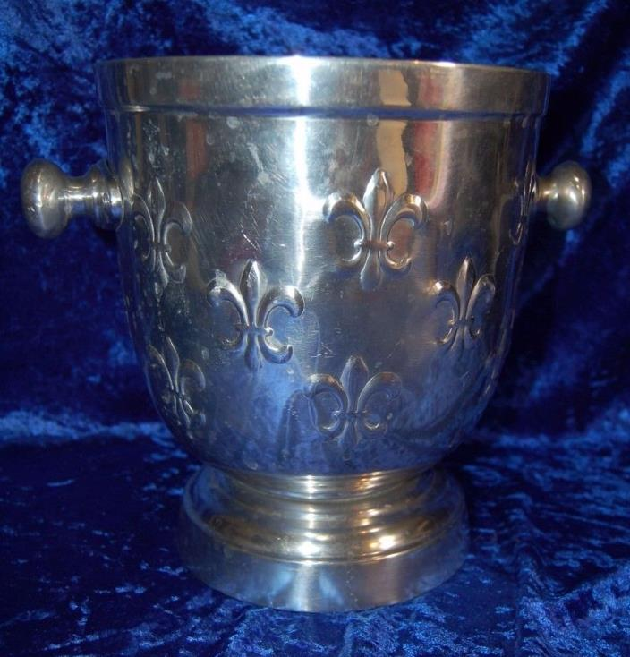 Ice / Champange Bucket with Fleur de Lis Embossed Accents