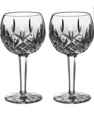 WATERFORD Lismore Crystal Balloon Wine Glass, Set Of 2