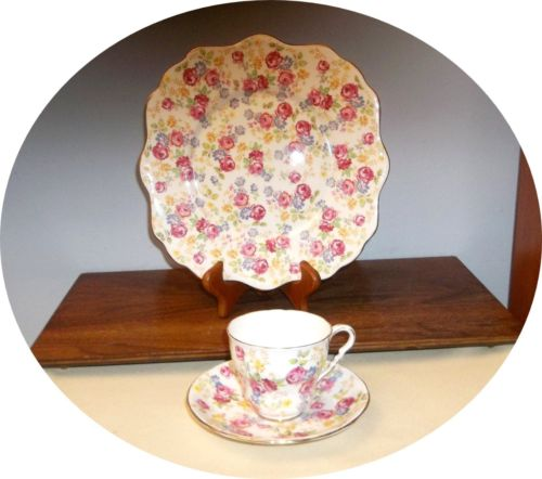 3 PC.  JUNE ROSES~ CUP, SAUCER & 10