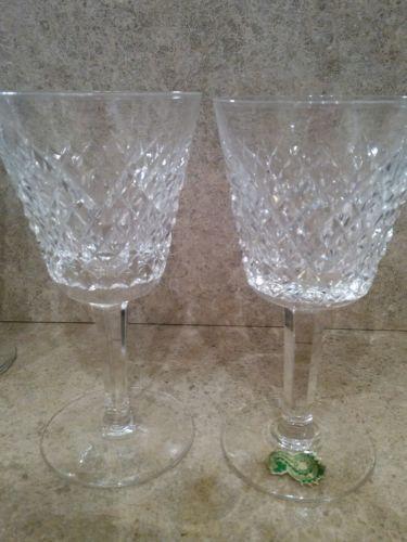Waterford Crystal Alana - 2 Wine  Ireland 1952
