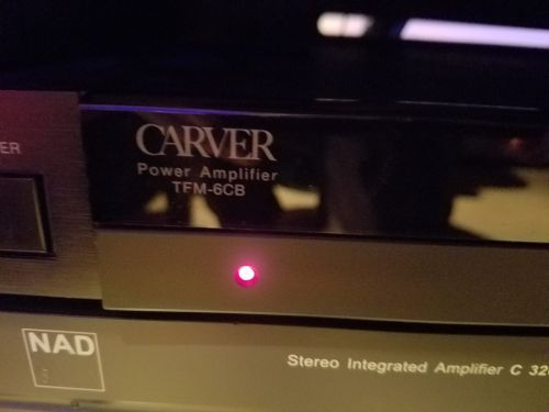 Carver TFM-6CB 2 Channel Power Amplifier, included Monster power conditioner!!