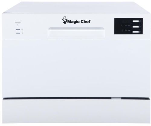 Stainless Steel Countertop Portable Dishwasher White 6 Place Settings Control