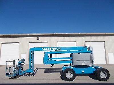 2008 GENIE Z-60/34  4X4 AERIAL MANLIFT BOOM LIFT BOOMLIFT DIESEL MAN BASKET JIB