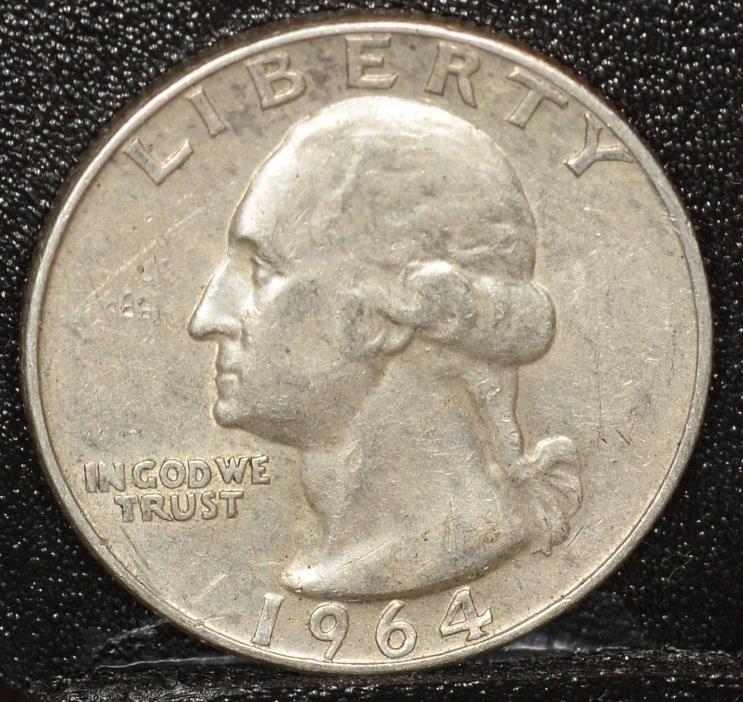 1964-D Washington SILVER Quarter  Inv. Q036