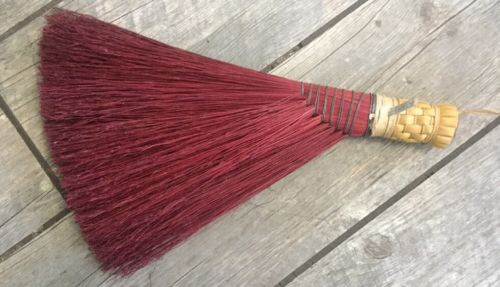 Berea College Student Made Hearth RED Broom Vintage 18