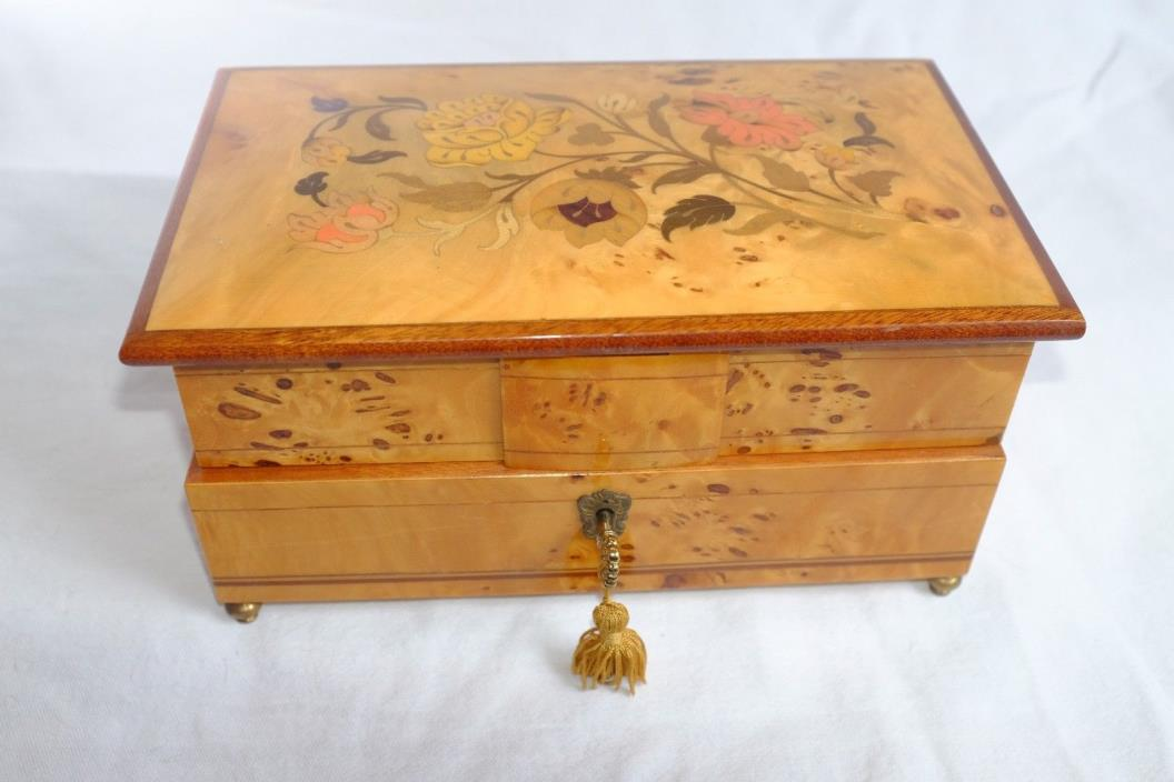 Vintage Reuge Music Jewelry box Chest