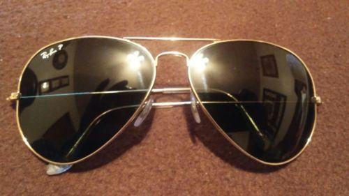 Ray ban aviator sunglasses polarized