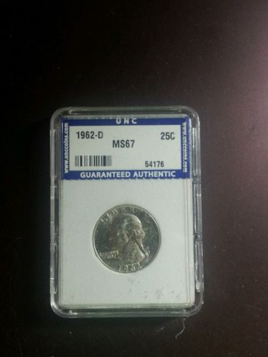 1962-D Washington Quarter UNCIRCULATED GRADED Rarity