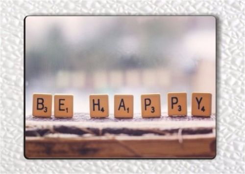 BE HAPPY FRIDGE MAGNET -etr5X