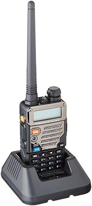 Baofeng UV-5RE Black Dual Band UHF / VHF FM Two Way Radio + UV-5R E Earpiece