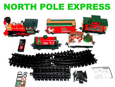 PARTS from North Pole Express Christmas Train Set EZTEC 37297  - As Is