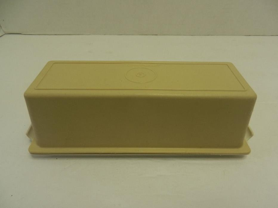 Vintage Tupperware Butter Keeper Dish Harvest Gold #636 & #637