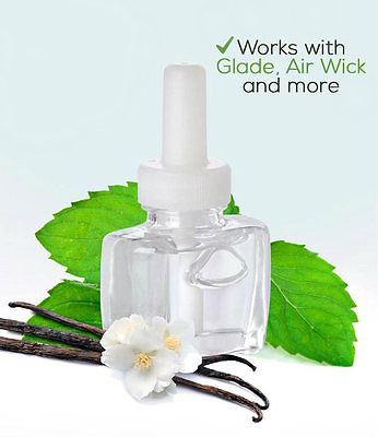 2 100% Natural Balancing Vanilla Peppermint For Glade Air Wick Plug in Refil