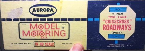 1962 nos • AURORA • slot car track