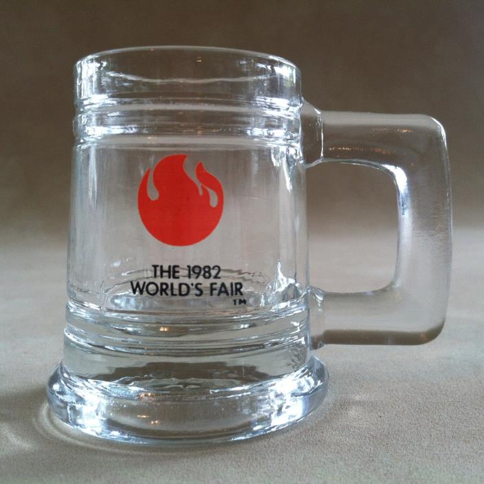 Shot Glass WORLD'S FAIR 1982 Miniature Beer Stein Mug Design Knoxville TN~Liquor