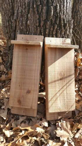 2 Single Chamber Bat Houses ~ Handcrafted ~ Blossom Woodworks ~ Free Shipping