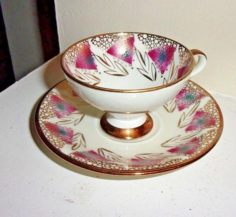 Vintage Hartporzellan Coffee Tea Cup & Saucer Germany