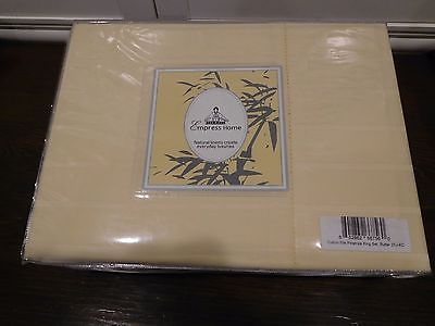 EMPRESS HOME LUXURIOUS BUTTER PINSTRIPES SILK & COTTON SHEET SET KING ELEGANT