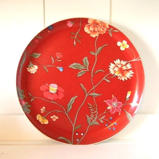 Vintage 60's Flower Power Tray, Large Mid Century Mod Floral