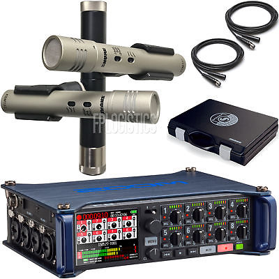 Zoom F8 Portable Multi-Track Recorder with Shure KSM137/SL Stereo Microphone Sys