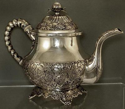 Chinese Export Silver Teapot    c1840      54 OZ.