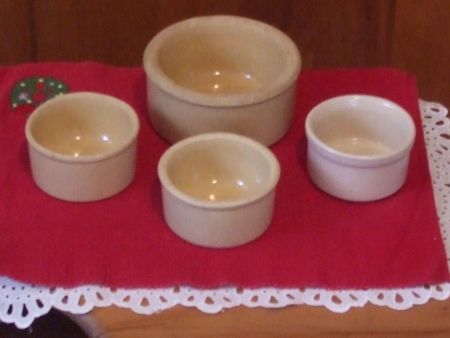 Collection of 4 Vintage Roseville Crocks