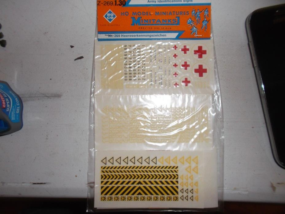 Roco Minitanks #: Z-269.1.30 - ROCO DECALS - ARMY  IDENTIFICATIONS DECALS