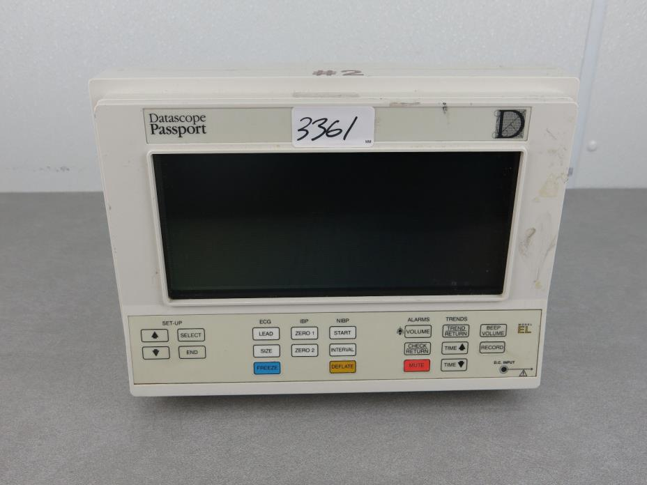 Datascope Passport Patient Monitor 0998-00-0095-42