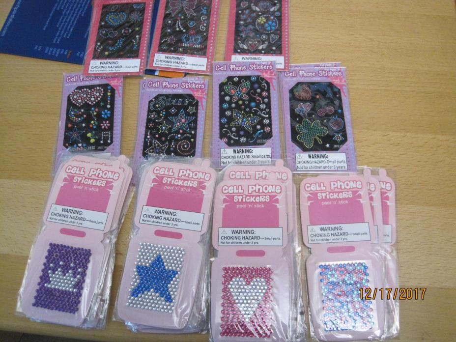 NEW Cell Phone Stickers Lot Glam Up Your Cell Phone 48 Packs