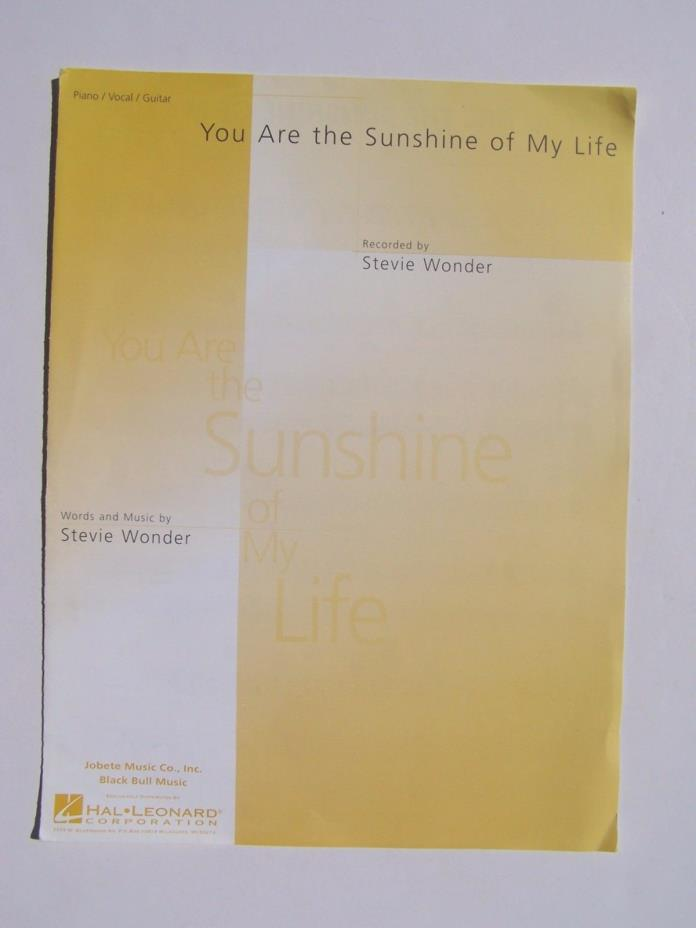Stevie Wonder - You Are The Sunshine Of My Life Hal Leonard Piano/Vocal/Guitar S