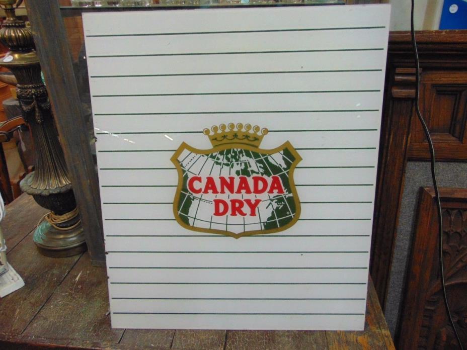 Vintage Original 1960-70's Canada Dry Cola, RC 23 x 19  Soda Machine Sign