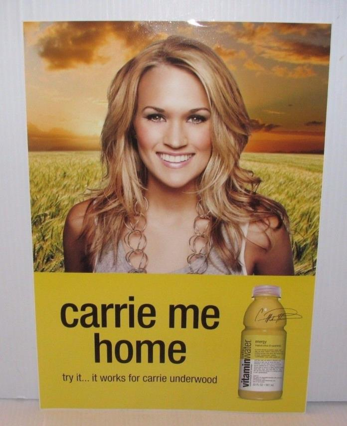 CARRIE UNDERWOOD VITAMIN WATER STICKER COCA COLA COUNTRY MUSIC