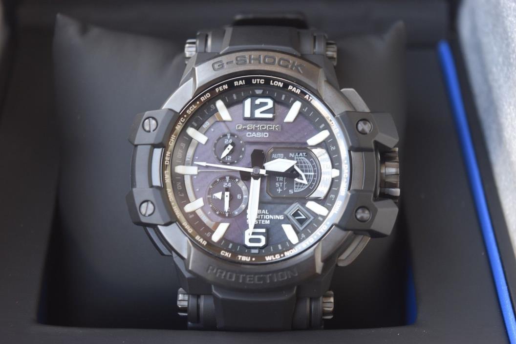 Authentic Casio G-Shock Mens GPS Gravity Solar Hybrid Watch GPW1000T-1A