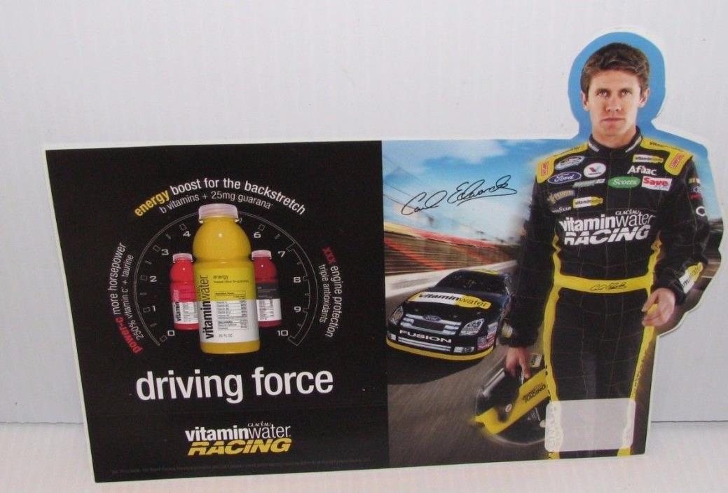 CARL EDWARDS VITAMIN WATER STICKER NASCAR