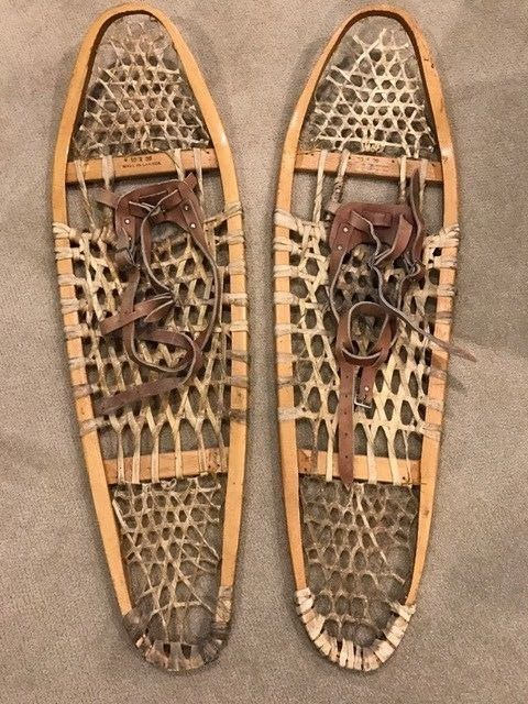 Antique Vintage Indian Made Gros LOUIS Snowshoes 10