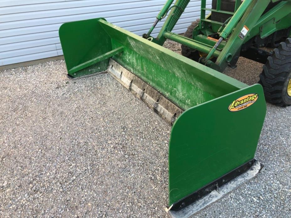 8' Advantage Attachments snow pusher plow with John Deere quick attach