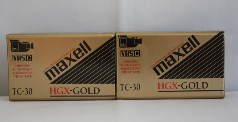 TC-30 Maxell VHS C HGX-Gold Grade Blank Video Cassette Tapes