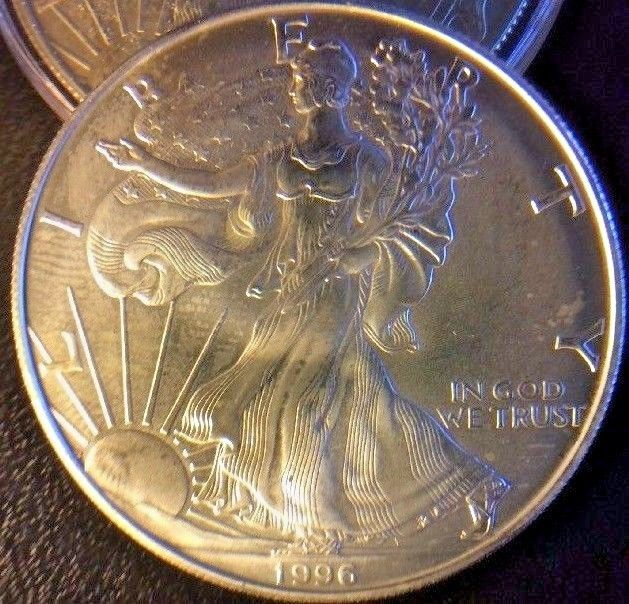 1996 - 1 oz American Silver Eagle Coin - One Troy oz .999 Bullion Key Date