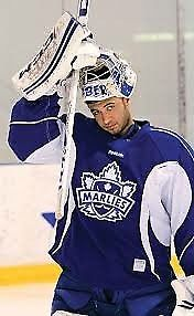 Toronto Marlies 2013/14 Goalie Worn Practice jersey AHL Toronto Maple Leafs