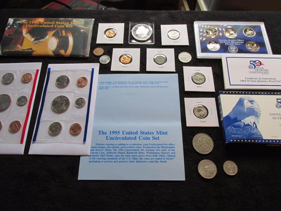 Large PDS Coin Lot MINT SET+Proof  OLD Vtg. US COINS ,1943 WHEAT PENNY , #B29