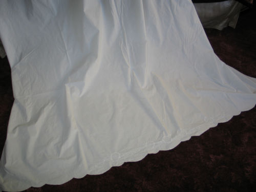 Gorgeous Antique Hand Embroidered c1900s  Bed Sheet~Quilt~Blanket Cover