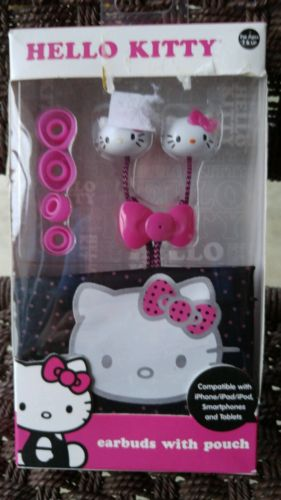Hello Kitty Earbuds with Pouch