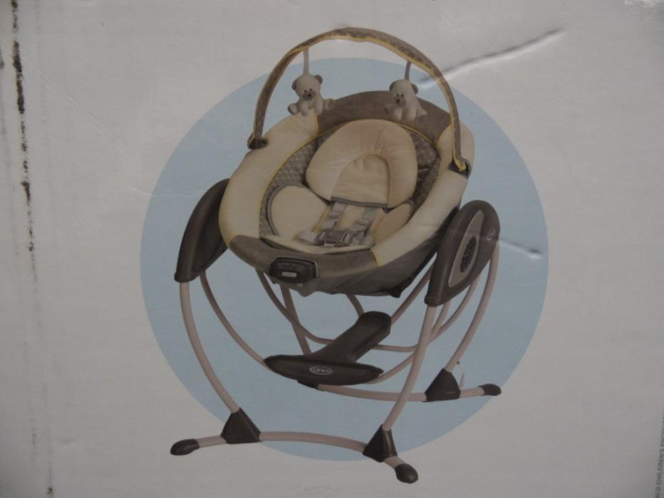 Graco LX Gliding Baby Swing Portable Peyton 1843904 Music Sounds Recline NEW